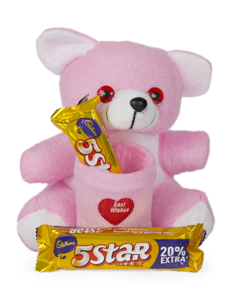 Pink Teddy And Choco Combo