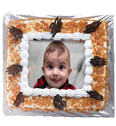 1Kg Eggless Butterscotch Photo Cake