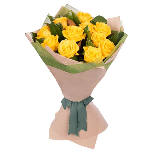 Long Stemmed Rose Bouquet Yellow