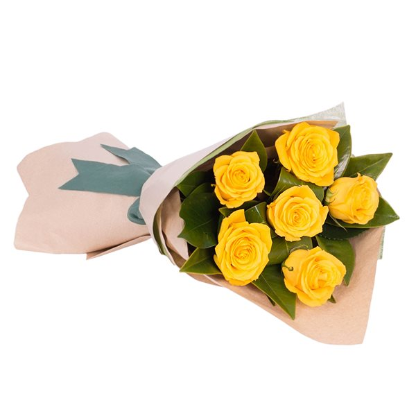 Long Stemmed Rose Bouquet Yellow 6