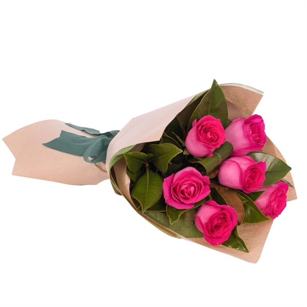 Long Stemmed Rose Bouquet Pink 6