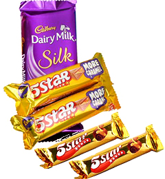 5 Star chocolates n Cadbury Dairy Milk Silk Gifts Pack