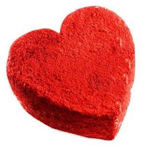 500gms Eggless Red Velvet  Heart Shape Cake