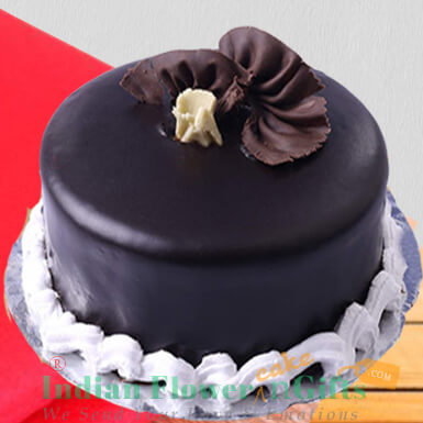 half kg eggless plain chocolate cake