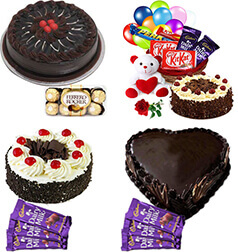 Low order Online Celebration Gifts with Birthday Cake home delivery services Patna at Midnight