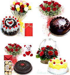 Low Online Birthday Flower Cake Gifts home delivery services to Patna at Midnight