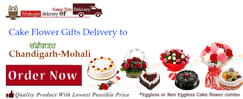 Midnight Birthday Anniversary Eggless Cake Flower Bouquet And Chocolates Delivery In Chandigarh Mohali