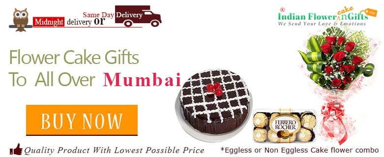 Midnight Birthday Anniversary Eggless Cake Flower Bouquet And Chocolates Delivery In Mumbai