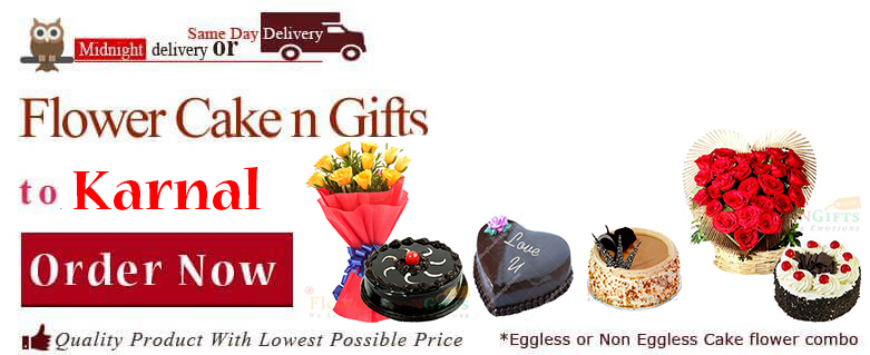 Midnight Birthday Anniversary Eggless Cake Flower Bouquet And Chocolates Delivery In Karnal