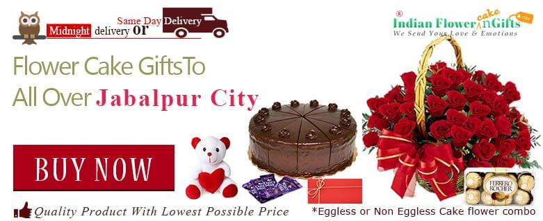 1 online flower and birthday cake delivery in Jabalpur midnight